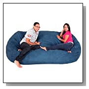 Cozy Sack 8-Feet Bean Bag Chair X-Large Navy