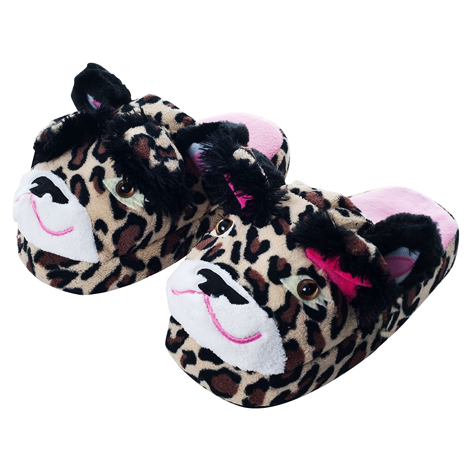 Silly Slippeez Leopard Plush Slippers