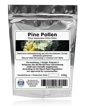 PINE POLLEN (Pinien Pollen) - Naturliche Wildsammlung - TOP-Qualität vom Original - ISO-9001-zertifiziert + laborgepruft - 100g