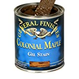 General Finishes CMG Oil Base Gel Stain, Gallon, Colonial Maple (Color: Colonial Maple, Tamaño: 1 Gallon)