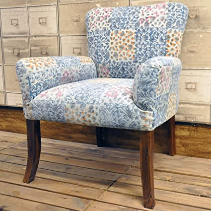 Hand Woven Traditional Kilim Stonewashed Patchwork Multi Colour Chair Arm Chair