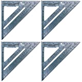 Swanson Tool S0101 7-inch Speed Square Layout Tool with Blue Book (4 Pack)