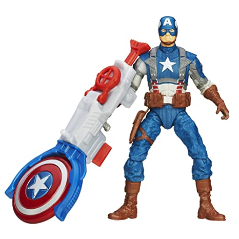 Captain America Super Soldier Gear Shield Blitz Captain America Figurine