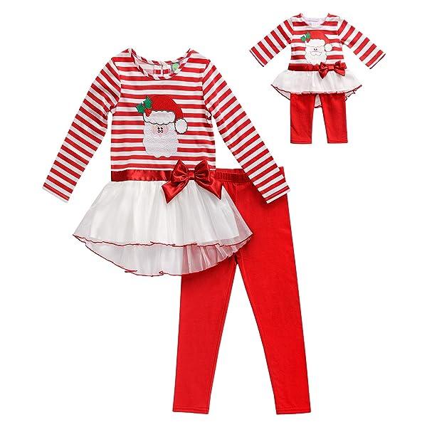 "DOLLIE ME GIRL OUTFIT Dress Leggins SET 5 6 7 8 10 FITS AMERICAN GIRL 18/"" DOLLS"