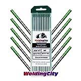 WeldingCity TIG Welding Tungsten Electrode Rod Pure (Green Tip) 5/32