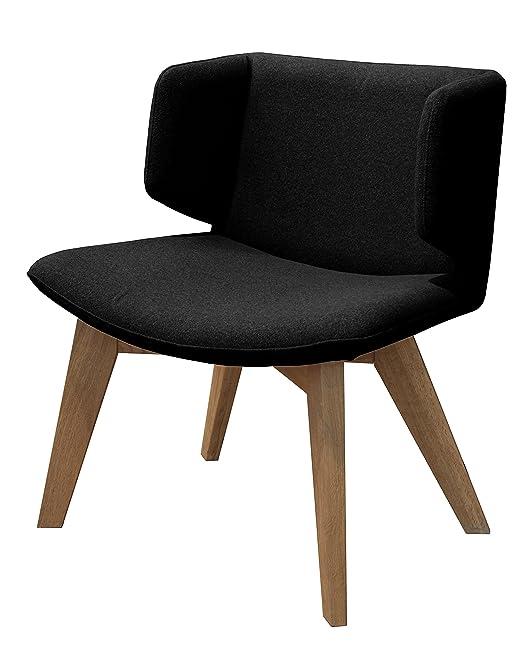 Tenzo 9450-224 Tequila Designer Sessel, Sitzfläche mit Stoffbezug, 74 x 68 x 50 cm, schwarz