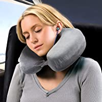 Bedsure Therapeutic Relief Hypoallergenic Travel & Neck Pillow (Grey)