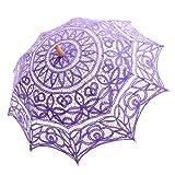 Topwedding Battenburg Lace Outdoor Wedding Parasol Bridal Shower Umbrella, Pale Purple (Color: Pale Purple, Tamaño: onesize)