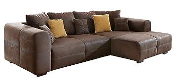 Cavadore 503 BigSofa Love Seats, Schaumstoff, braun, 124 x 177 x 72 cm