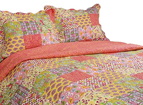 Pegasus Home Fashions Vintage Collection Madeline Reversible Quilt/Sham Set, Full/Queen Size