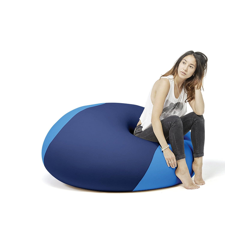 """""""Ollie"""", Multifunktionaler Therapie Sitzsack, Ergonomisch, 100x100x80 cm (Blau/Türkis)"""