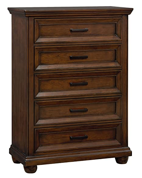 Standard Furniture Vineyard 5 Drawer Chest In Tobacco
