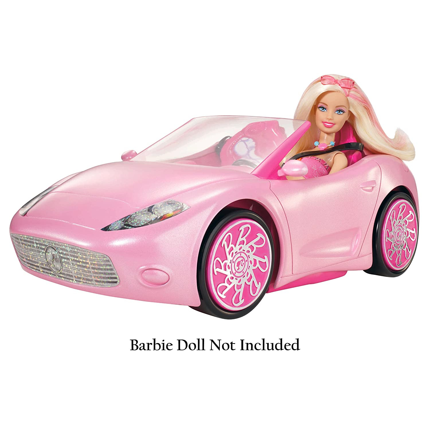 barbie glam convertible pink car vehicle w3158 new fast. Black Bedroom Furniture Sets. Home Design Ideas