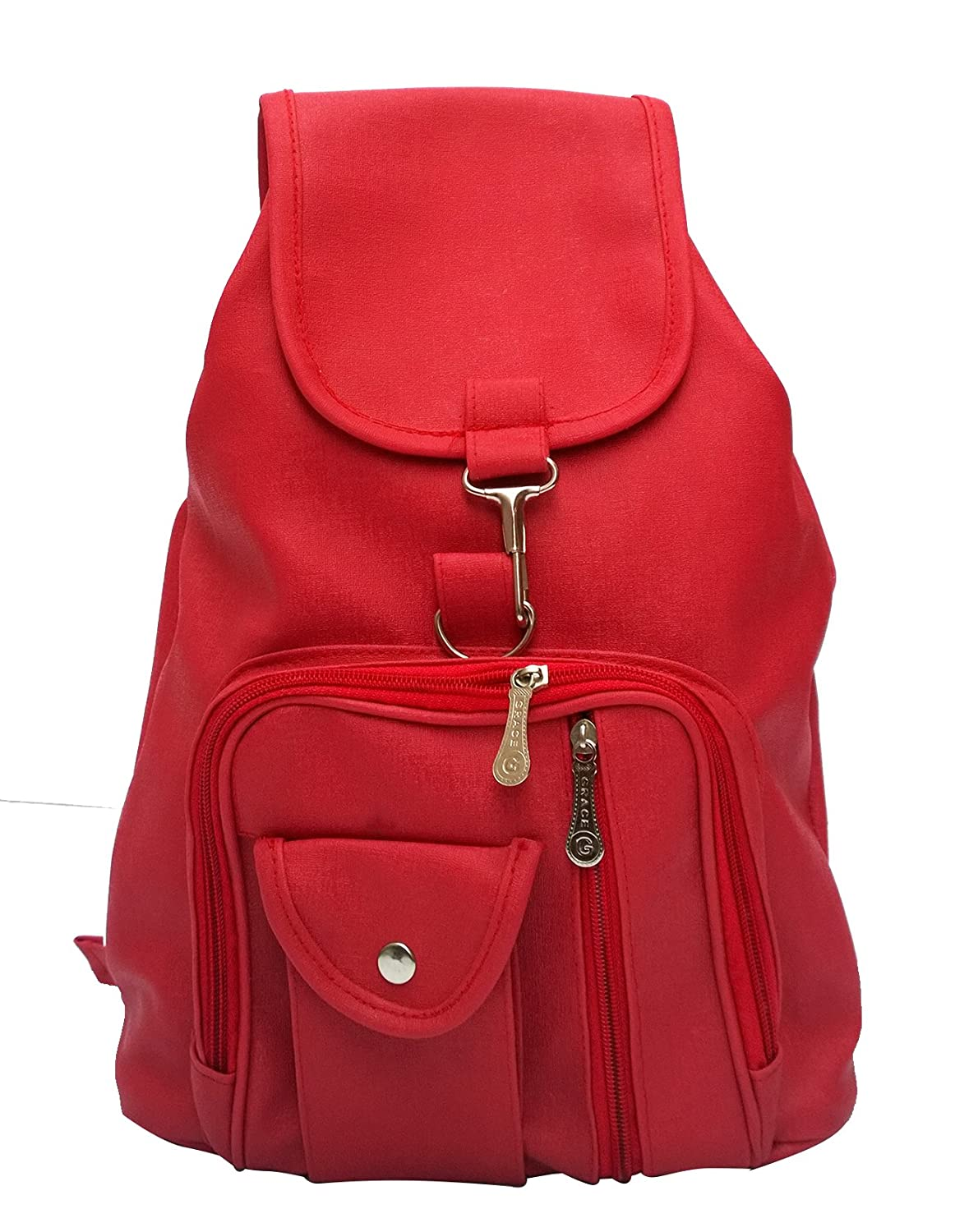 40%-70% off Handbags & Clutches By Amazon | Vintage Girl's Backpack Handbag (Red,Bag 124)  @ Rs.465