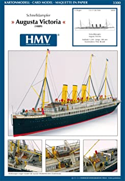Modèle en carton de navire à vapeur 3300 Augusta Victoria