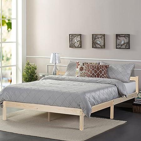 GreenForest Cama de pino doble 140 x 190 (B x L) cama de madera natural