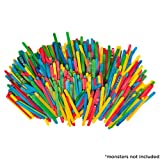 Horizon Group USA Colored Wood Stick for Crafting Projects 1200ct, Assorted, One Size, Multicolor (Color: Multicolor, Tamaño: One Size)
