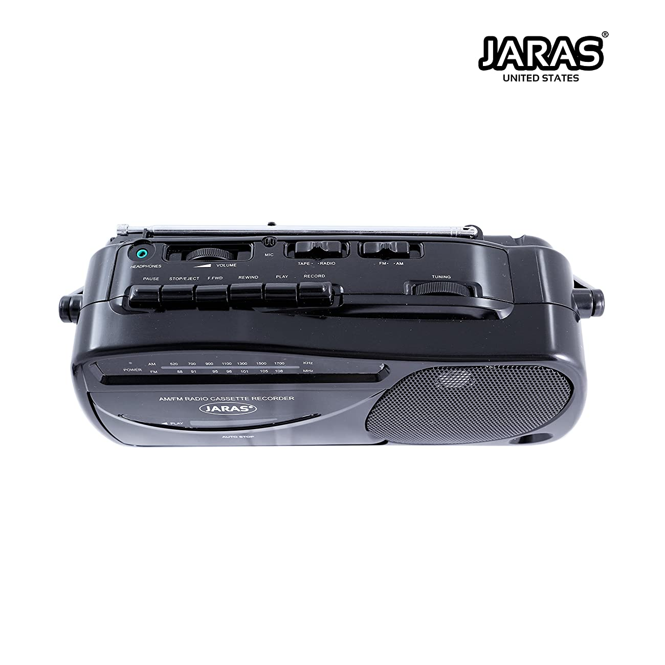 Jaras JJ-2618 Limited Edition Portable Boombox Tape Cassette Player/recorder with AM/FM Radio Stereo Speakers & Headphone Jack 4