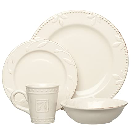 Ivory Stoneware Dinnerware and Servingware from the Sorrento Collection by Signature Housewares