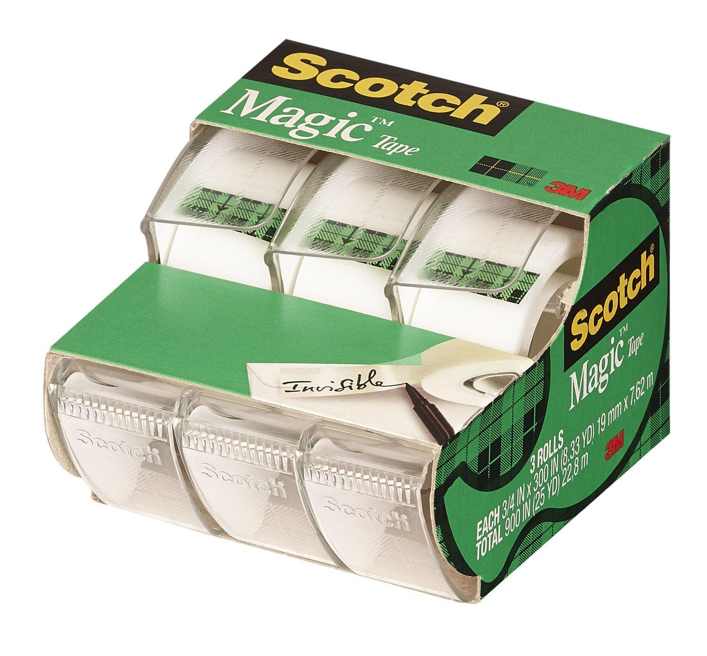 Scotch Magic Tape, 3/4 x 300 Inch, 3 Count (3105)