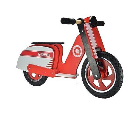 Kiddimoto - 916/410 - Vélo et Véhicule pour Enfant - Scooter Rouge et Blanc