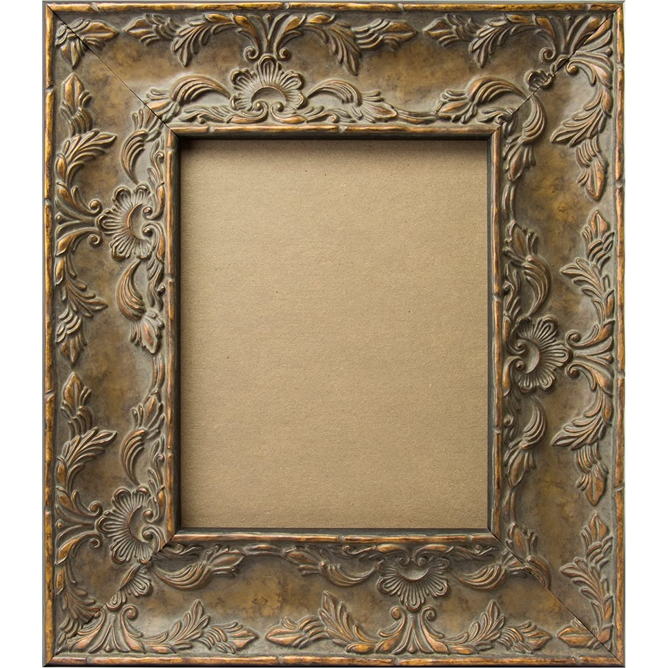 Craig Frames 10723 8 by 10-Inch Picture Frame, Solid Wood Core, Embossed Leaf Finish, 3.25-Inch Wide, Antique Gold 1