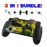 Mobile Game Controller | Cell Phone Grip with Trigger Buttons and Joystick BUNDLE | For Fortnite/PUBG | Compatible with iPhone/Android | Enhance Your Gaming Experience With A Few Attachments! By WUMAS