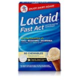 Lactaid Fast Act Lactose Intolerance Chewables with Lactase Enzymes, Vanilla Twist, 60 Pks of 1-ct. (Tamaño: 60 Count)