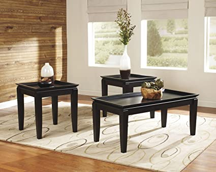 Contemporary Almost Black Occasional Table SEt