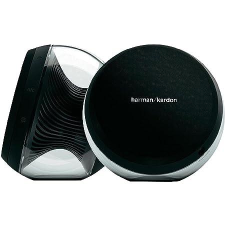 Harman Kardon Nova Enceintes Stéréo 2.0 sans Fil Bluetooth NFC avec Connexions Analogiques /Optiques Transparent/Noir