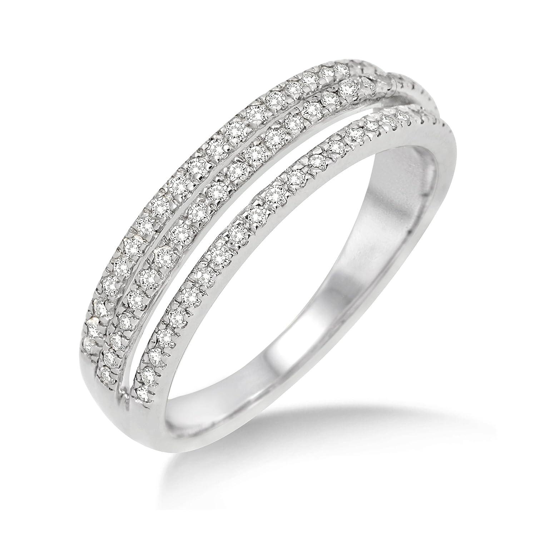 Miore Damen-Ring 375 Weißgold Brillanten Weiß 0,35ct MP9001RM jetzt bestellen