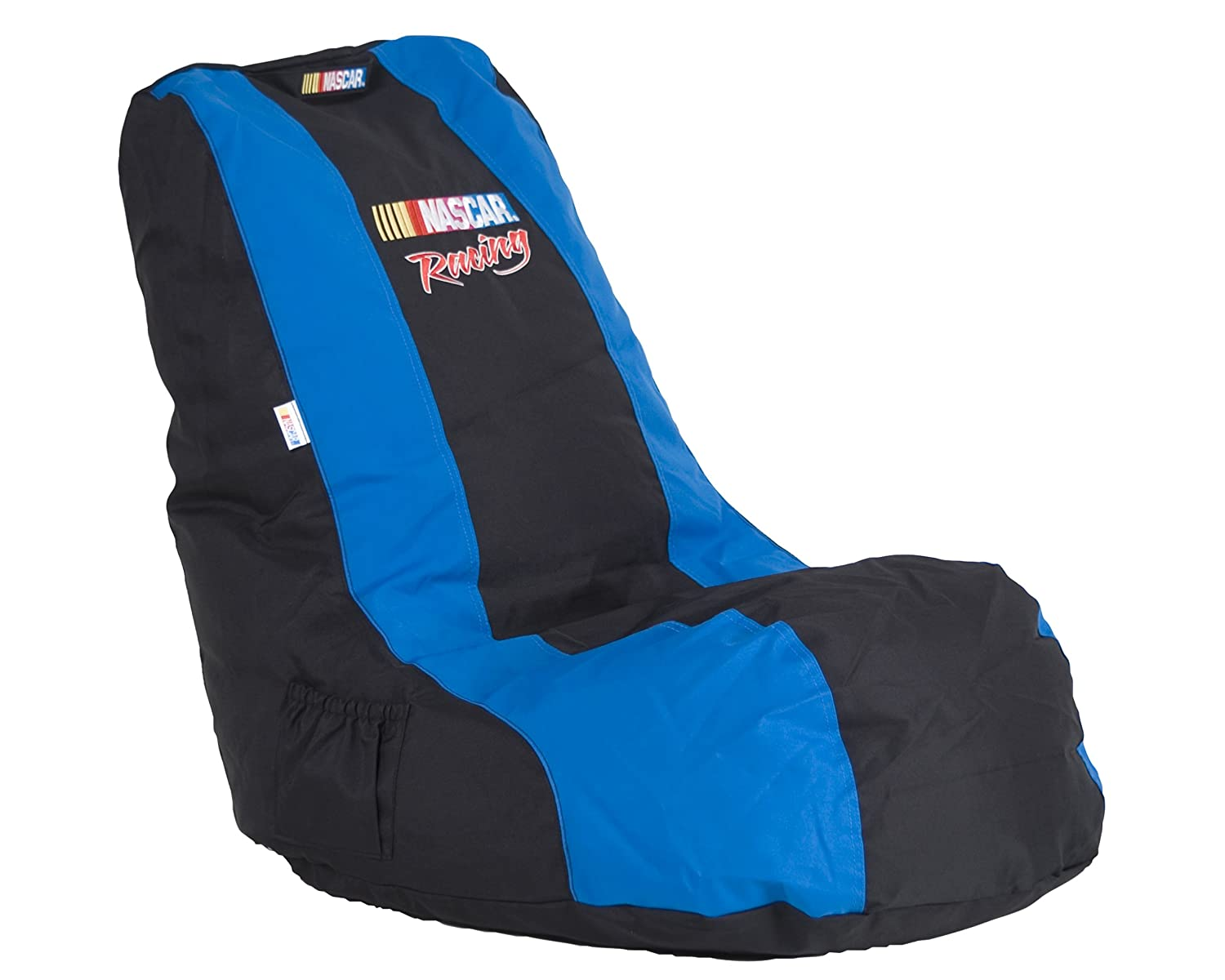 Ace Bayou, 94653, Officially licensed Nascar Racing Video Bean Bag Chair, Black with Blue, 6 cu