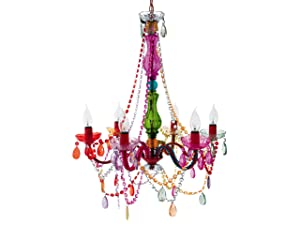 Silly Lamp 6 Arms Chandelier Gypsy, Multi Colour       Customer review and more news