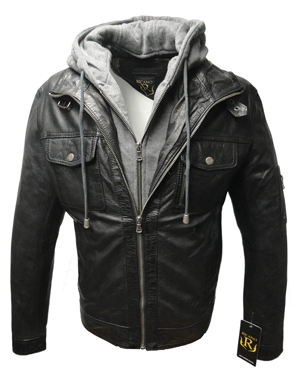 """Herren Lederjacke """"REX"""" von RICANO aus Echt Nappa Leder (schwarz) online kaufen"""