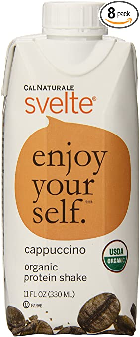 CalNaturale Svelte Organic Gluten Free Protein Drink, Cappuccino, 11 Ounce (Pack of 8)