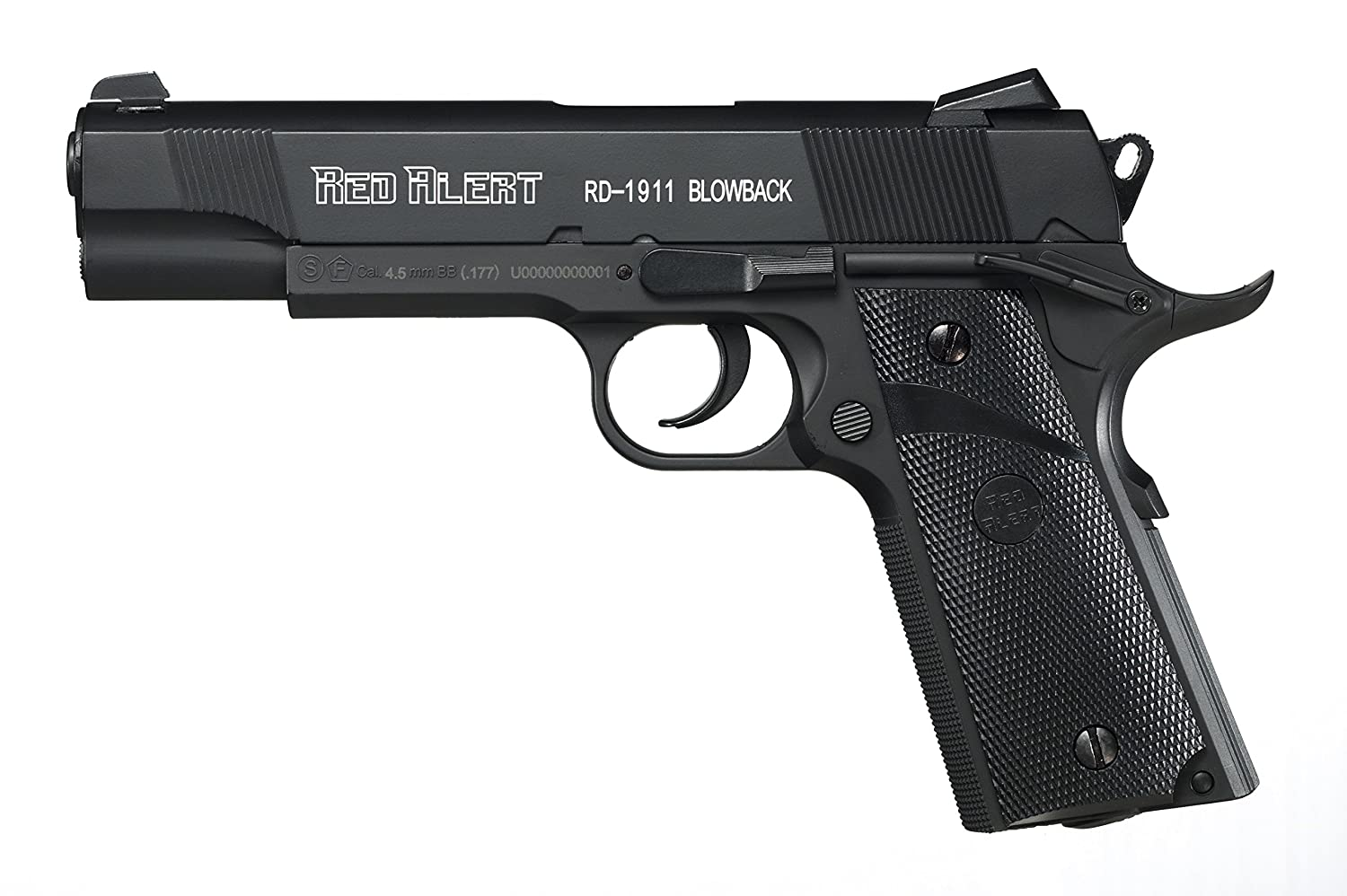 Gamo Outdoors 611164754 Red Alert RD-1911 CO2 Semi-Automatic Metal BB Air Pistol with Blowback, .177 Caliber прицел gamo 3 9х40 llwr ve39x40wrv w1pmv