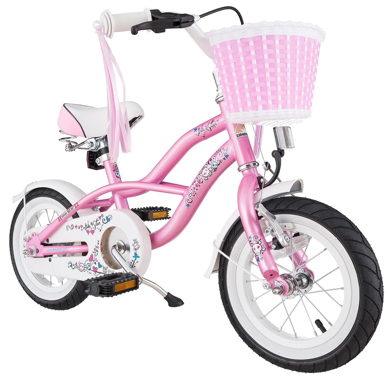 BIKESTAR® Premium Design Kinderfahrrad für coole Kids ab 3 Jahren ★ 12er Deluxe Cruiser Edition ★ Glamour Pink günstig