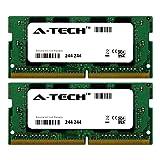 A-Tech 16GB Kit (2 x 8GB) 2400Mhz PC4-19200 260-Pin So-Dimm DDR4 1.2v Non ECC 2rx8 Laptop & Notebook Computer Memory Ram Modules (AT8G2D4S2400ND8N12V) (Color: Laptop (2 x SODIMM), Tamaño: 8GB 2400MHz (PC4-19200) 2Rx8)