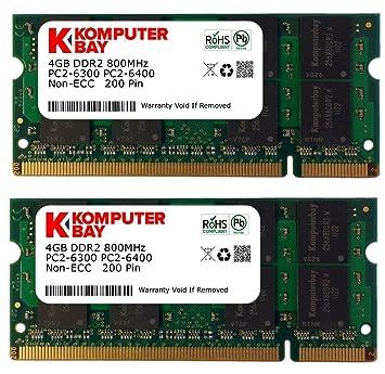Komputerbay 8GB 2X 4GB DDR2 800MHz PC2-6300 PC2-6400 DDR2 800 (200