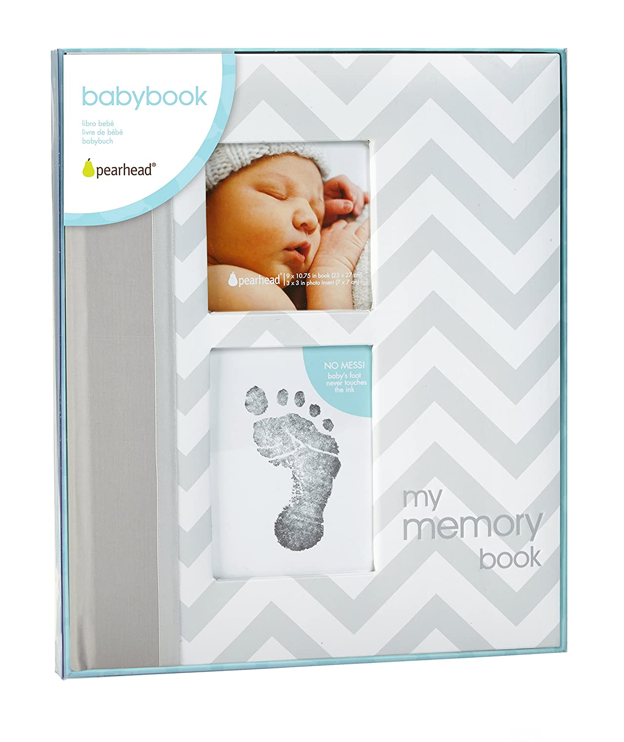 Pearhead Modern Dots Baby Book Pearhead Chevron Baby Book