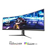 """ASUS ROG Strix XG49VQ 49"""" Curved Gaming FreeSync Monitor 144Hz Dual Full HD HDR Eye Care with DP HDMI (Color: BLACK)"""