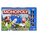 Monopoly Gamer Sonic The Hedgehog Edition Board Game for Kids Ages 8 & Up; Sonic Video Gamer Themed Board Game (Color: Brown/a)