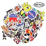 Vinyl Stickers 400 pcs Laptop Computer PC Water Bottle Car Helmet Skateboard Luggage Bike Bumper Waterproof Graffiti Decals,Gift for Kids, Adult- No-Duplicate Pack (Color: 400 Pack)