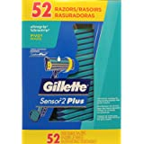 One box of 52 Men's Gillette Custom Plus Disposable Razor with Powder Lubrastrip (Tamaño: 52 Count)