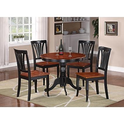 Bristol 5 Piece Dining Dinette Kitchen Table Set 4 Chairs
