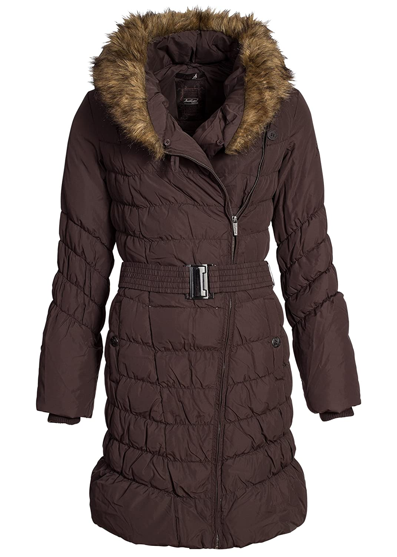 Lordz & Ladiez Damen Daunen Wintermantel, modisch weite Kapuze IV008, braun online kaufen
