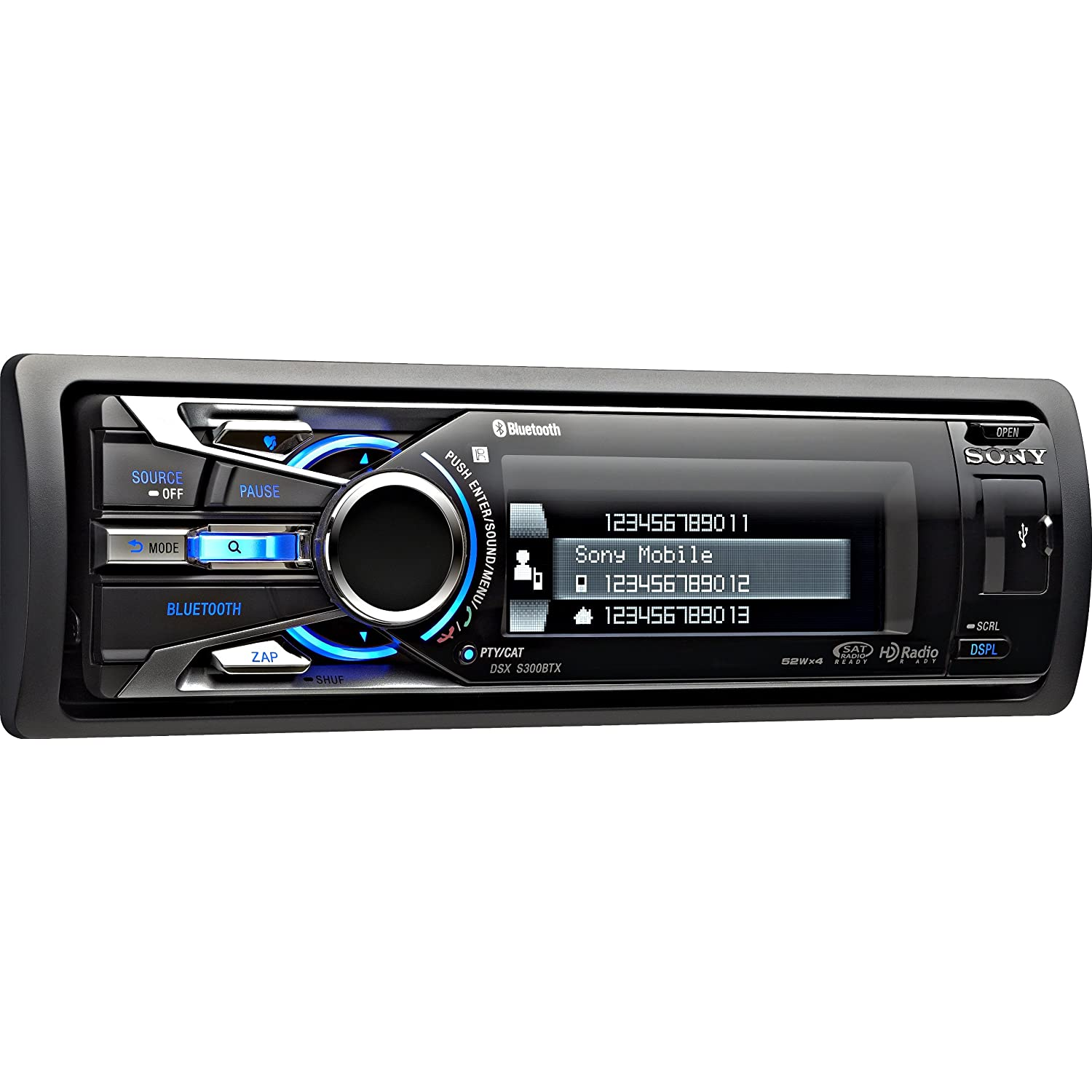 Sony Dsxs300btx Ipod Usb Bluetooth Car Stereo Receiver