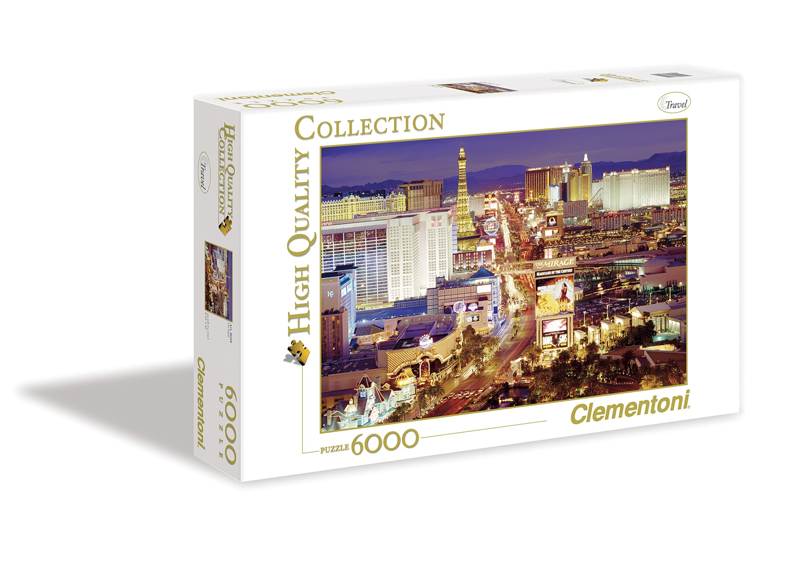 clementoni las vegas 6000 piece jigsaw puzzle new sealed. Black Bedroom Furniture Sets. Home Design Ideas
