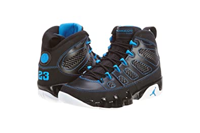 Amazon.com: Mens Nike Air Jordan 9 Retro Basketball Shoes Black / White / Photo Blue 302370-007: Shoes