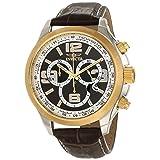 Reloj Invicta 0147 II Collection para hombre, pulsera de cuero marron y cronógrafo.